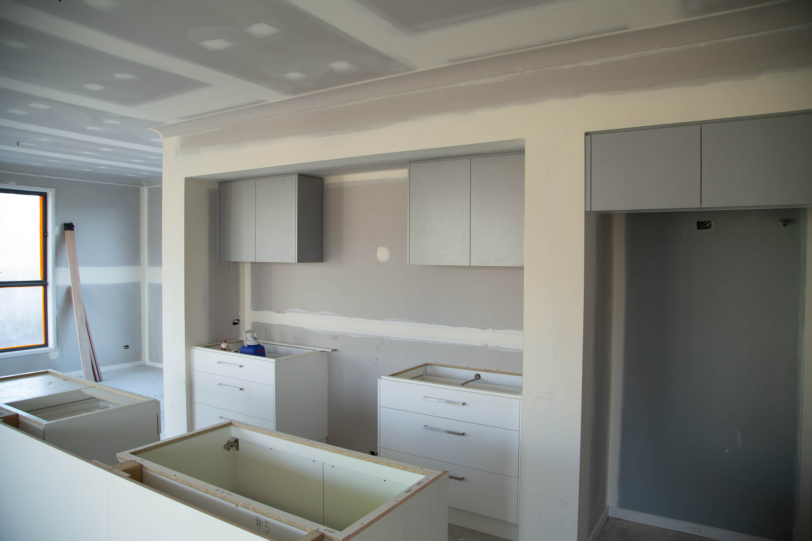 Kitchen fit-out in a double storey house construction in Karawatha, Brisbane