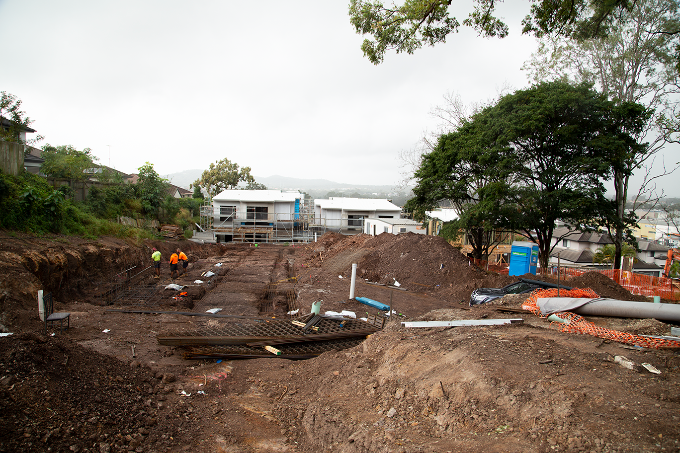 Site levelling at Mount Gravatt for Stage 2 townhouse development in Mount Gravatt Brisbane