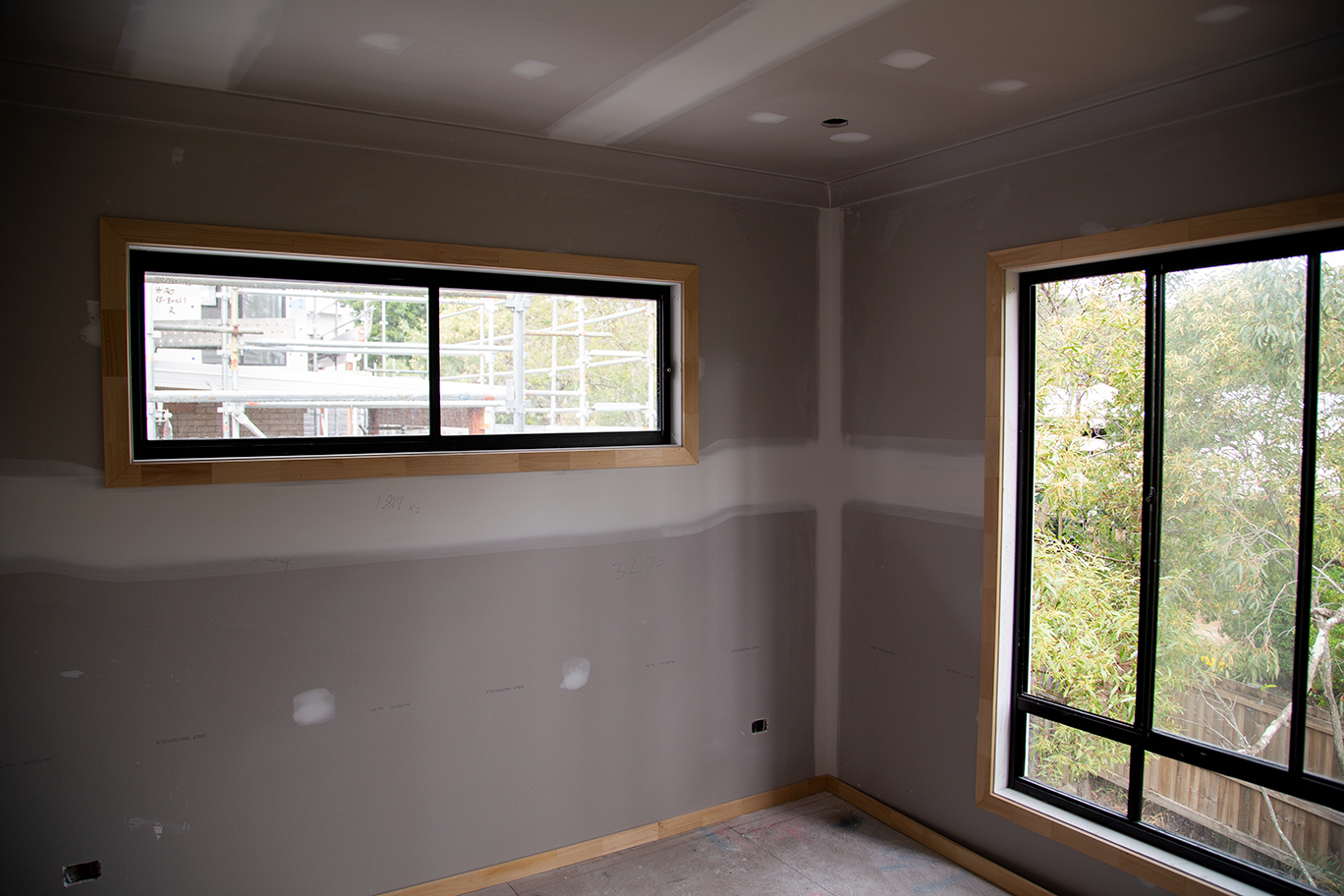 bedroom fit out in a custom-designed townhome in Carindale Brisbane