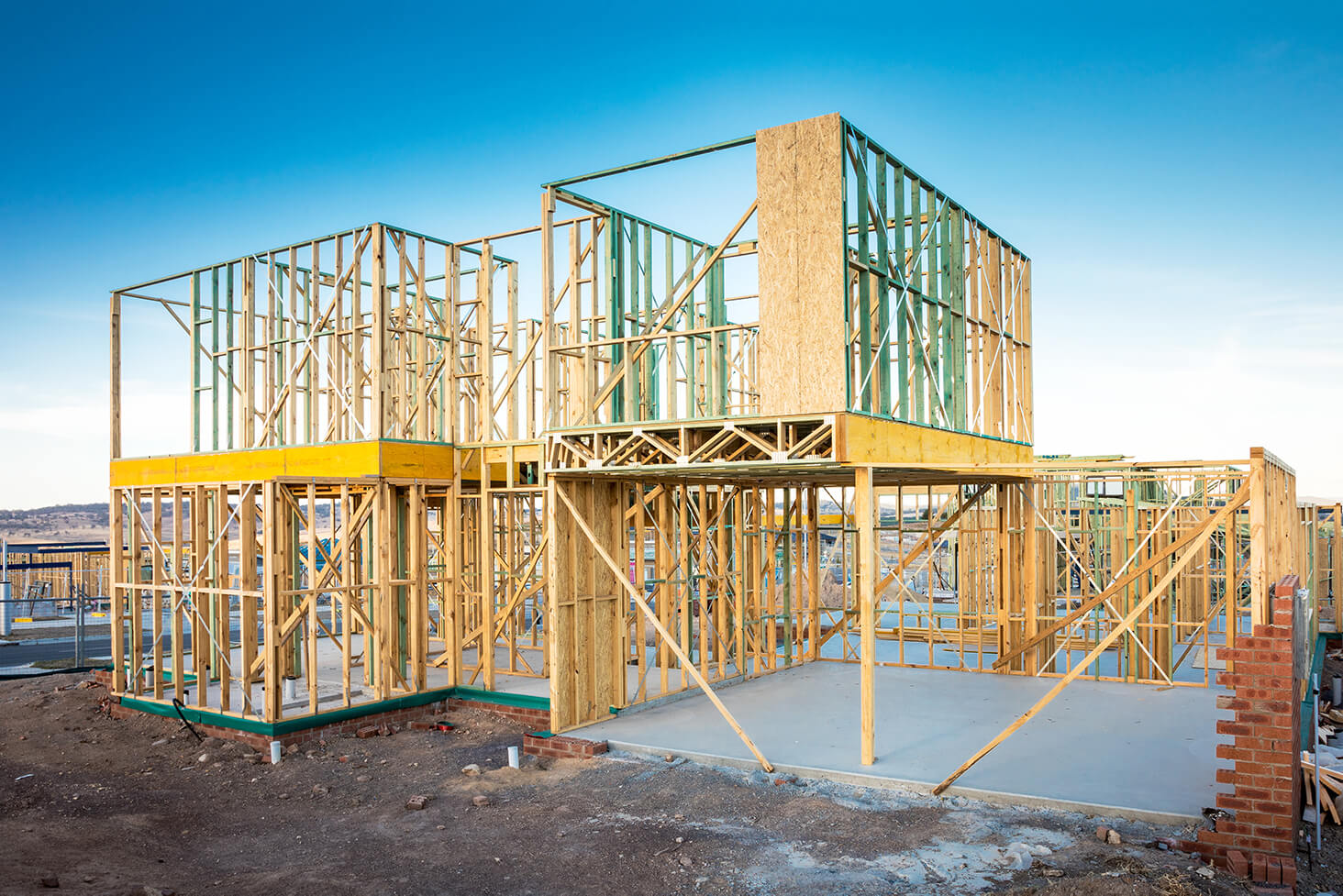 house frames carpentry for residential and commercial building development