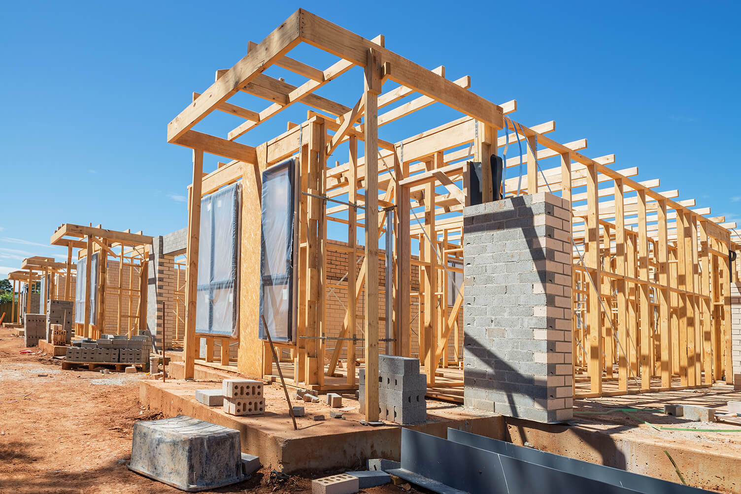 house frames for residential and commercial building